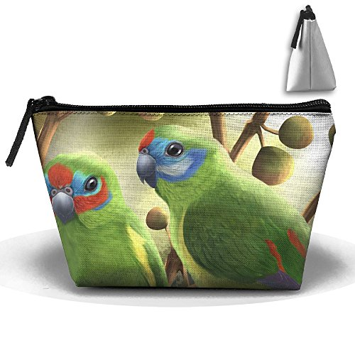 Double Eyed Fig Parrots Travel&home Portable Trapezoidal Make-up Receive Bag Hand Cosmetic Bag - Fig Parrot