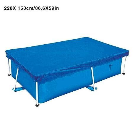 Asseny Rectangular Natación Resistente Rayos UV Cobertor de Piscina Impermeable a Prueba de Polvo Duradero Cubierta - 220cmx150cm