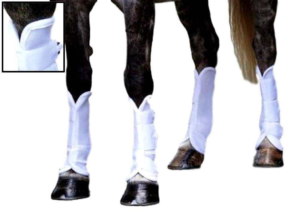 Shires, Airflow Turnout Socks White Cob by Shires