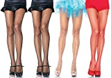 Leg Avenue Women's Industrial Net Pantyhose, Assorted, Plus-size, 4-Pair