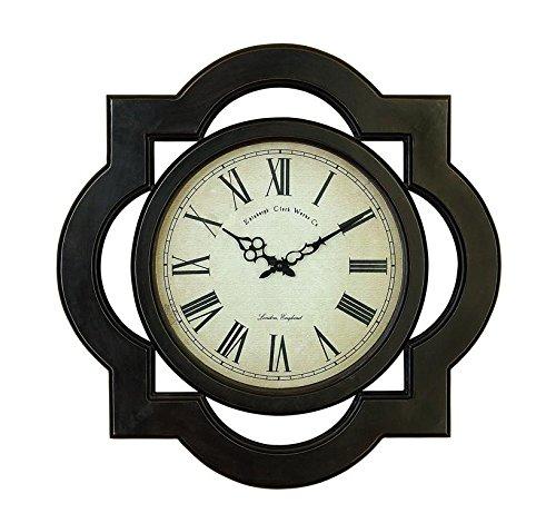 Scalloped Clock (Deco 79 81667 Wood Wall Clock Uniquely Scalloped)