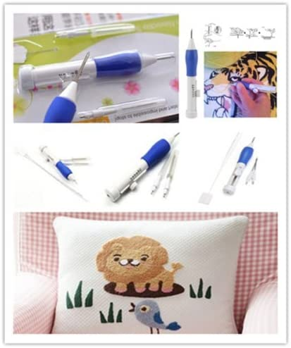1 Set Magic Embroidery Pen Embroidery Needle Weaving Tool Fancy Kits  AA