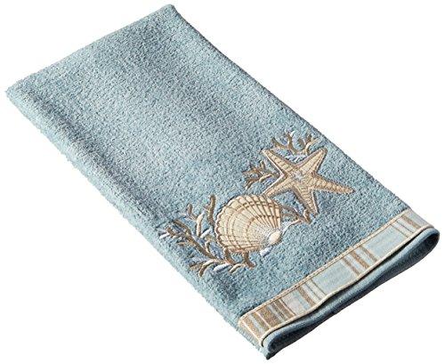 Avanti Linens 019682MIN Sand Shells Hand Towel, Medium, Mineral by Avanti Linens