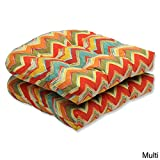 Pillow Perfect Outdoor Tamarama Multi Wicker Seat Cushion, Set of 2 Review