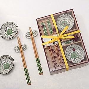 Sakura Kitchen Tools Tableware Set In Gift Box (Green Colors)