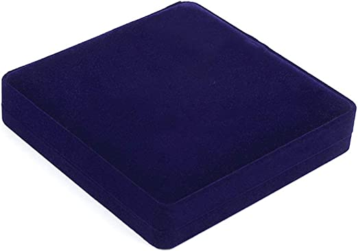 1 caja para collar con forma de corazón y perlas, caja de almacenamiento para joyas, caja de regalo azul real: Amazon.es: Amazon.es