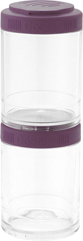 BlenderBottle C02520 GO STAK GoStak Twist n' Lock Storage Jars, 40cc 4-Pak, Plum