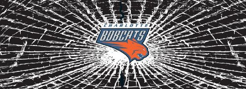 Charlotte Bobcats Shattered Auto Rear Window Decal