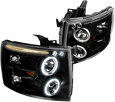 Spec-D Tuning 2LHP-GKEE99JM-TM Black Projector Headlight Halo Led