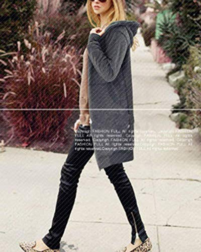 Automne Chic Manteau Gaine Mode Cordon Unicolore De Latrales Rauchfarben Longues lgant Femme Casual Col Fashion Parker Fourrure Fausse Serrage Vent Outerwear A Hiver Poches en Capuche avec Coupe wqwF6OP