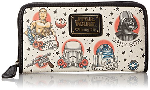 Loungefly Star Wars Tattoo Flash Print Faux Wallet, Multi, One Size