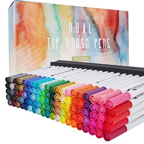 100 Colores Rotuladores Punta Fina, Acuarelables Marcadores De Pincel Para Niños Y Adultos Dibujo, Caligrafía, Lettering…