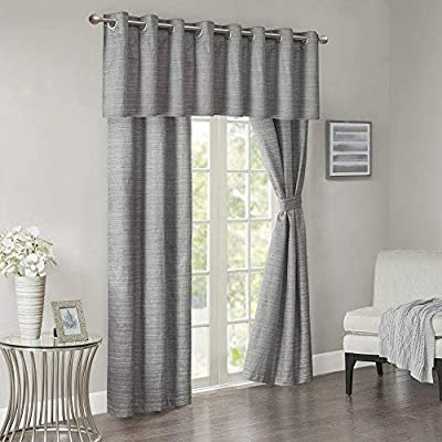 Comfort Spaces - 5 Piece Grasscloth Window Curtain Pair