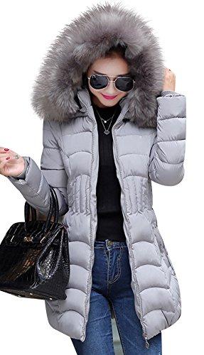 Mojessy Women's Parka Winter Coat Overcoat Long Down Jacket Outwear large Grey