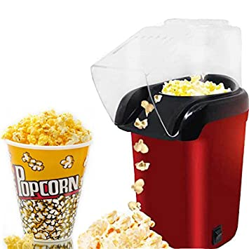 US19884 New Imported Red Hot Air Popcorn Maker Popper Popping Machine 1200 Watts Popcorn Makers at amazon