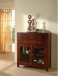 Good free mobile soggiorno display stile etnico coloniale moderno realizzato in legno massello - Mobili cucina etnica ...