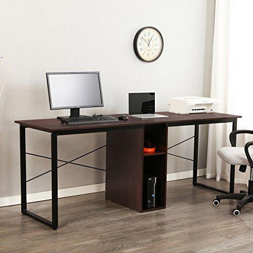 sogesfurniture Large Double Workstation Computer Desk 78