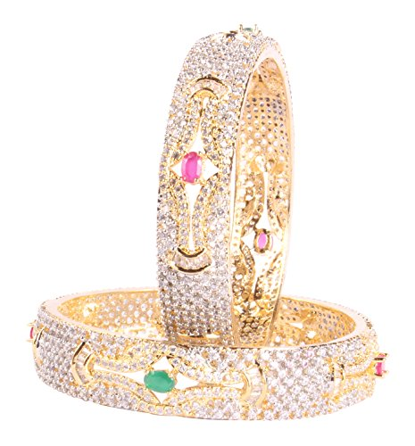 0825685f1 Traditional Bollywood Awesome Style Gold Tone CZ Indian Diamontic Bangle  Ethnic Jewelry - Buy Online in Oman. | Jewelry Products in Oman - See  Prices, ...