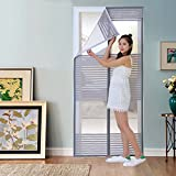 GONGFF Mosquito Curtain Magnetic Screen Door Summer Home Velcro Salmonella Curtains Encryption Free Punching Ventilation Ventilation,#2,100210Cm