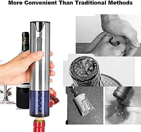 FEE-ZC Sacacorchos eléctrico Party Sacacorchos, abrebotellas automático Recargable USB con Cortador de Aluminio Los Mejores Regalos para sumilleres Camareros y camareros