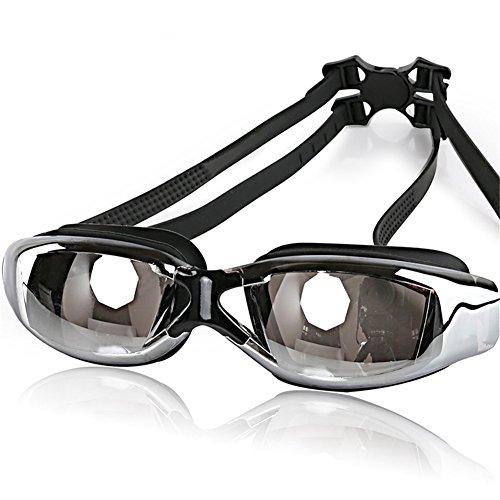 Lunettes de natation anti-buée UV Placage Feux-plaquent Miroir imperméable à l'eau