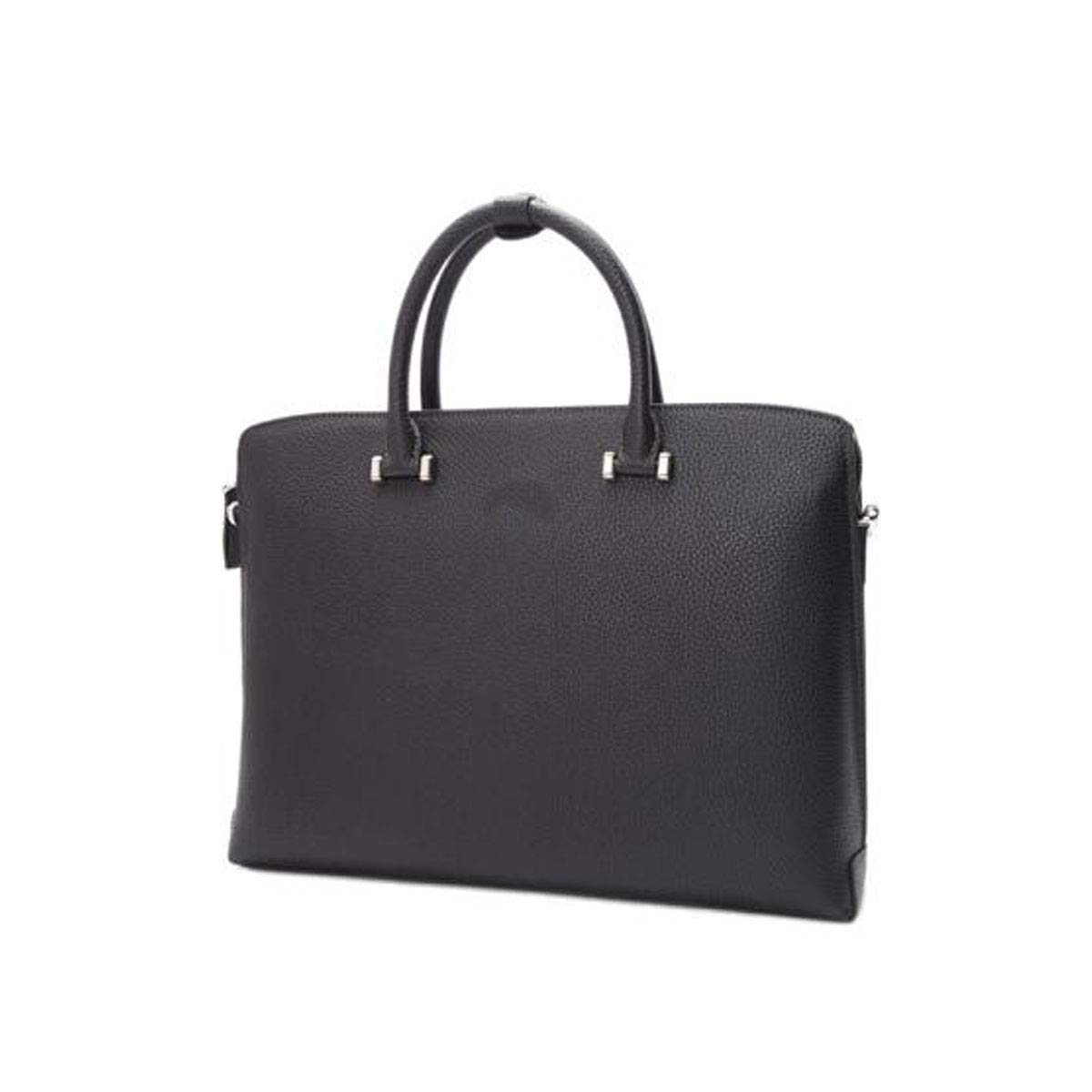 ブリーフケース、2018年春夏メンズビジネストートバッグ、レザーラップトップバッグ、ブラックサイズ:40 * 9 * 30 cm  ブラック B07R8CS4RF
