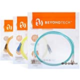LC to ST OM3 Fiber Patch Cable Multimode Duplex