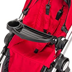 Every child can easily find his or her drink and snacks with the City Select Child Tray. It's easy to clean and opens on one side so your child to get in and out of the stroller. Compatible only with Baby Jogger City Select