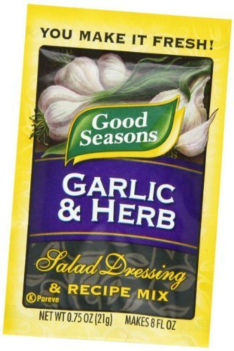 Price comparison product image Good Seasons Salad Dressing & Recipe Mix, Garlic & Herb, 0.75-Ounce Packets (Pack of 24) by Good Seasons