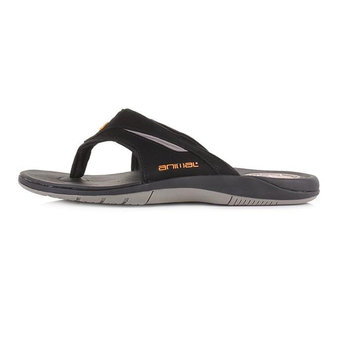 Animal® Fader Premium Women/'s Black Flip Flops Sandals Brand New on Sale