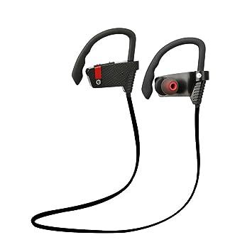 Auriculares Inalámbricos Antiruido Bluetooth 4.1 con Micrófono Estuche Sonido Estéreo Manos Libres para Sony iPhone Samsung Huawei PS4 Mp3, Color Negro: ...