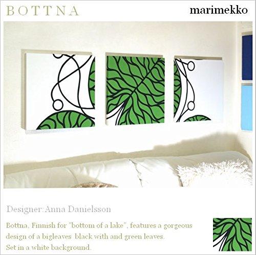 ファブリックパネル アリス marimekko BOTTNA1 ボットナ 40×40×2.5cm 3枚セット グリーン マリメッコ 北欧 【同梱可】 B0186O8TQS