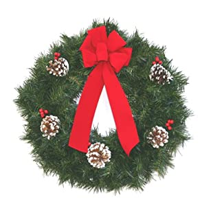 Artificial Christmas Pine Wreath 17