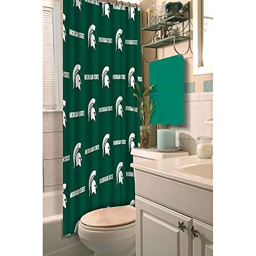 Michigan State Spartans Shower Curtain (Northwest 1COL903000031RET Col 903 Michigan State Shower Curtain)