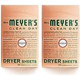 Mrs. Meyer's Clean Day Dryer Sheets - Geranium - 80 ct - 2 pk