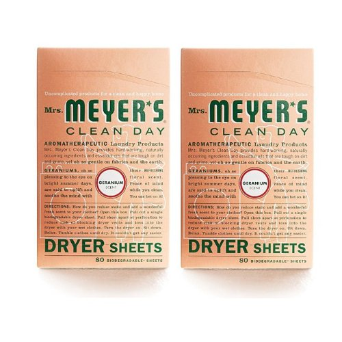 Mrs. Meyer's Clean Day Dryer Sheets - Geranium - 80 ct - 2 pk ()