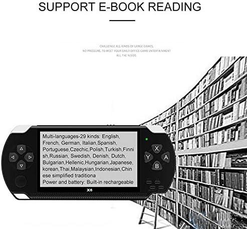 Videos E-Books TOOGOO X6 4,3 Zoll Hand Spiel Konsolen Spieler 10000 Spiele 32 Bit 8 GB Unterst/üTzung f/ür PSP Spiele Schwarz