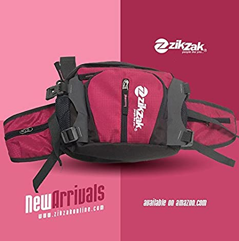 1121cf60c4a ZIKZAK Multi-Functional Waterproof Waist Pack, Waist Bag, Sport Handbag,  Shoulder with Water Bottle Holder Pocket for Running Hiking Cycling Travel  ...