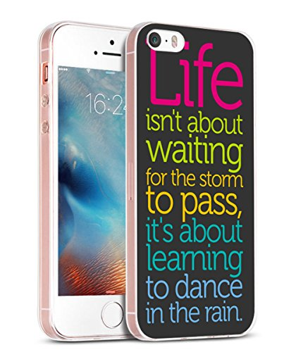 Case for iPhone SE & Cover for 5S & MUQR Replacement Skin Rubber Gel Silicone Slim Drop Proof Protector Compatible for iPhone 5 & 5S & SE Sayings Motivational Sports About Life Inspirational Sayings (Quote Case For Iphone 5s)