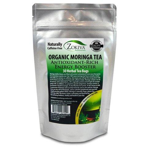 Moringa Tea Organic 30 Bags 100% Pure Antioxidant-Rich Energ