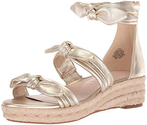 (Nine West Women's Allegro Wedge Sandal, Light Gold/Metallic, 6.5 M US)