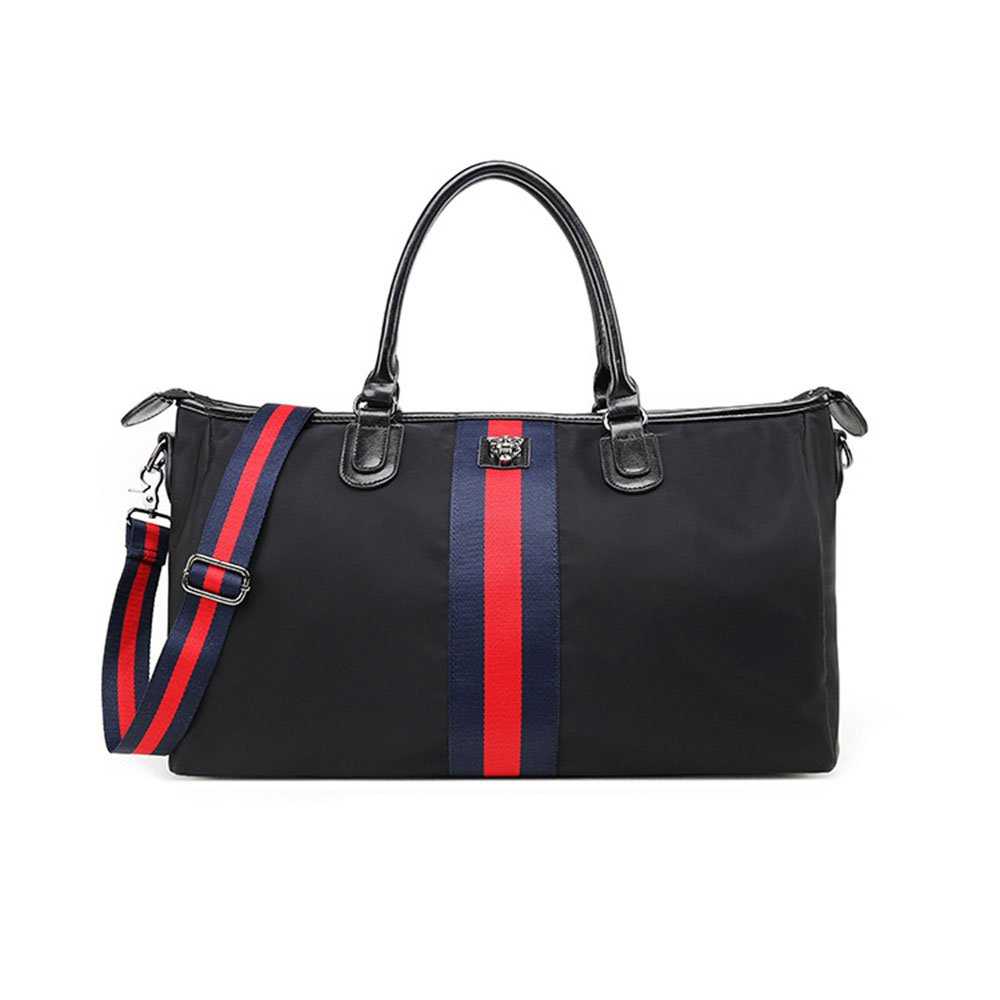 Ybriefbag Unisex Waterproof Nylon High Capacity Portable Travel Bag Multifunction Luggage Bag (Color : Black)