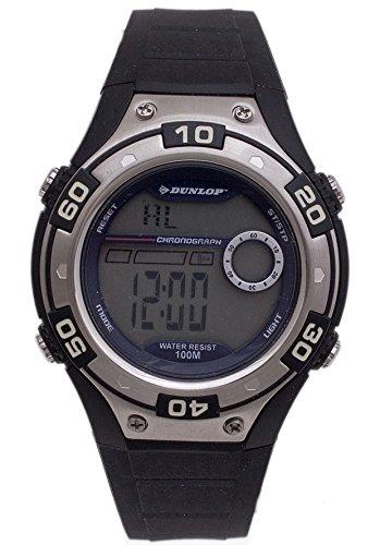 Dunlop DUN-144-G03 Reloj digital para hombre, de cuarzo con correa negra de goma: Amazon.es: Relojes