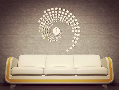Acrylic Crystal Wall Decor: Apexshell(TM) DIY Decorative Creative Fashion Round Point