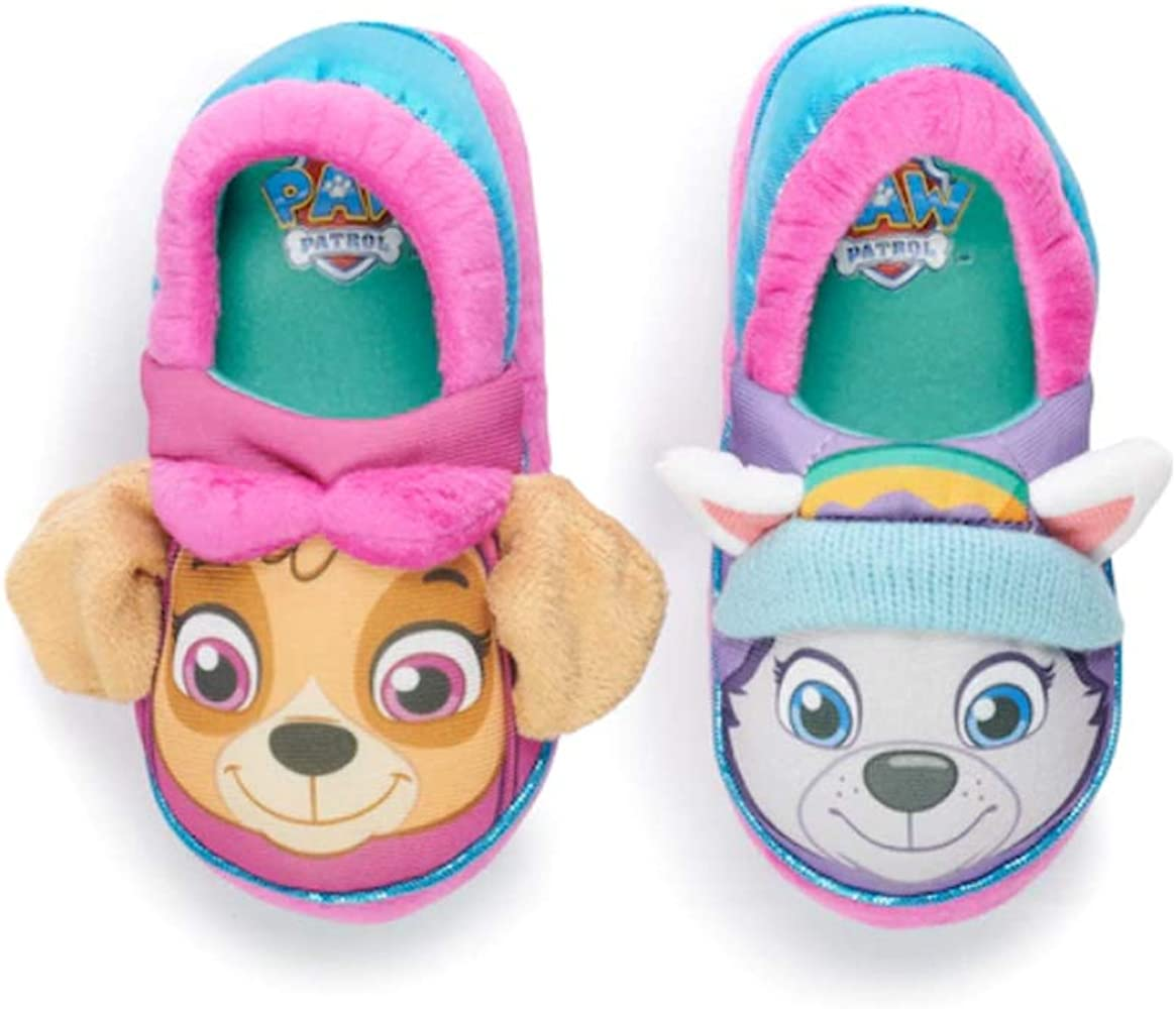 Paw Patrol Toddler Girls Skye and Everest Slippers