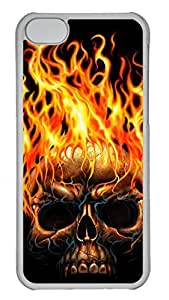 Apple iPhone 5C Case - Cool Skull 09 Funny Lovely Best Cool Customize iPhone 5C Cover