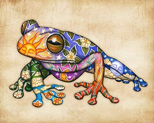 - Earth Frog Celestial Art Print by Dan Morris, 11x14, 12x16, 16x20