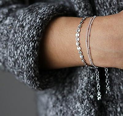 Boosic Multi Layer Bracelets Gold Bracelets for Women, Pack of 2
