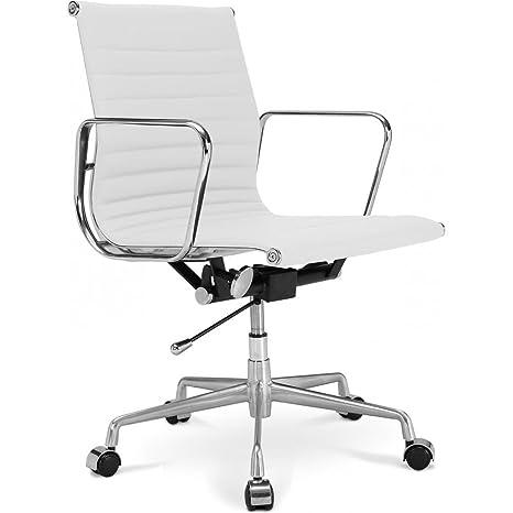 Chaise Bureau Alu Group Ea 117 Style Charles Eames Simili Cuir