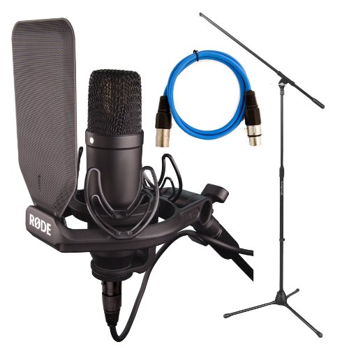 RODE NT1KIT with Boom Mic stand and 20ft premium XLR cable by Rode